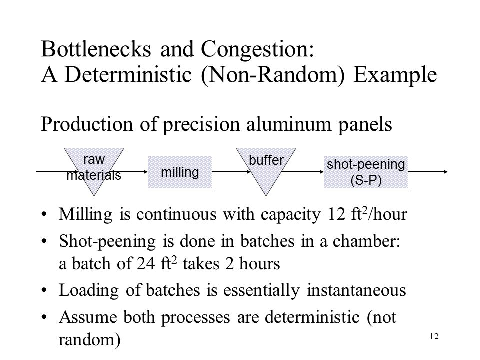 Bottlenecks and Congestion: A Deterministic (Non-Random) Example