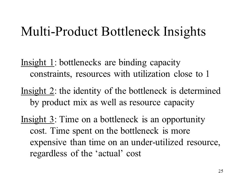 Multi-Product Bottleneck Insights