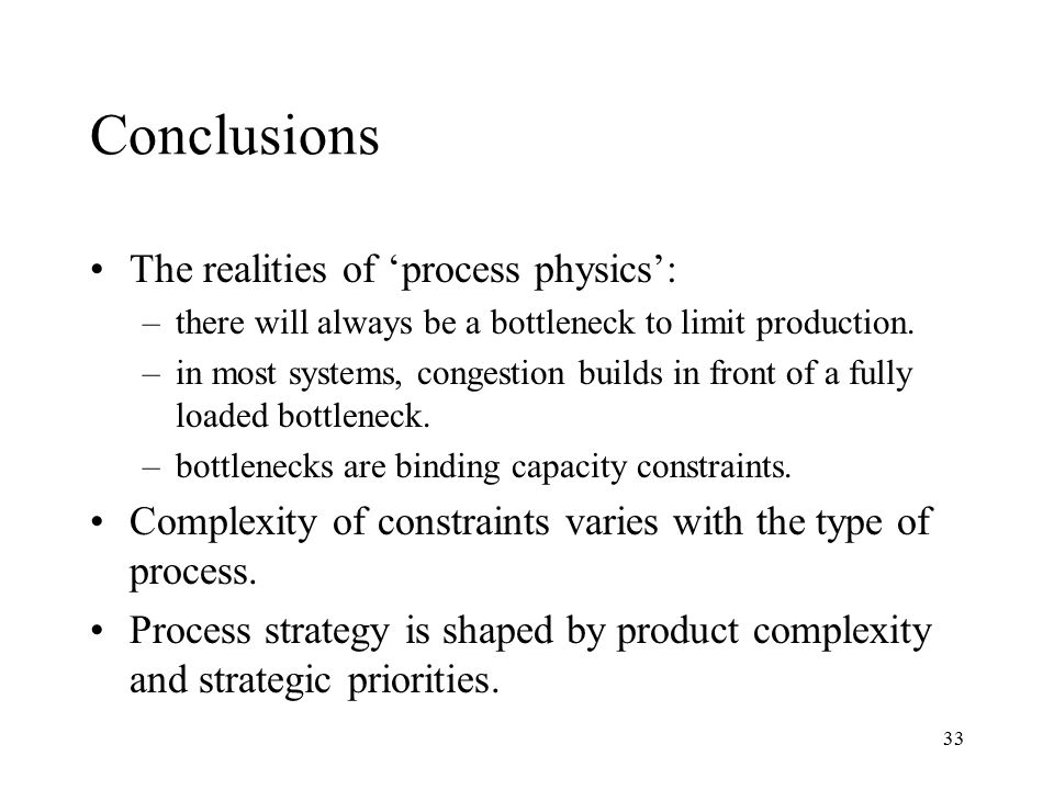 Conclusions The realities of 'process physics':