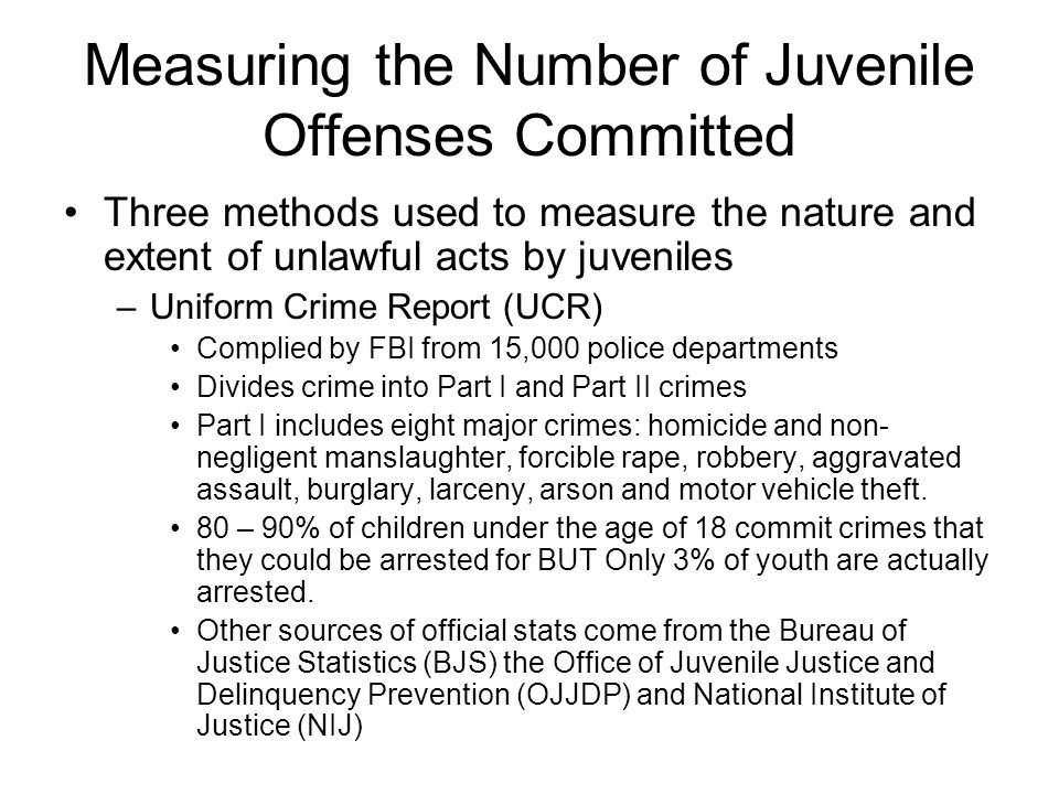 Measuring the Number of Juvenile Offenses Committed