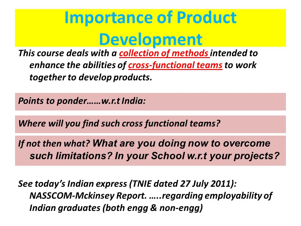 Importance of Product Development