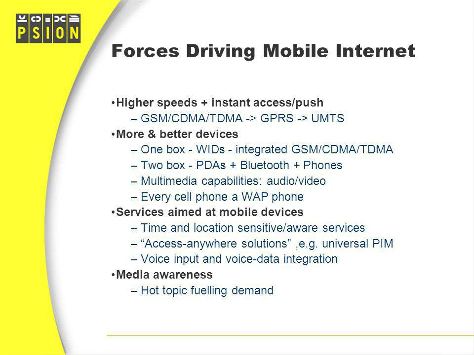 Forces Driving Mobile Internet