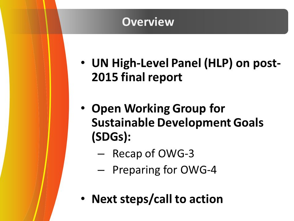 UN High-Level Panel (HLP) on post-2015 final report