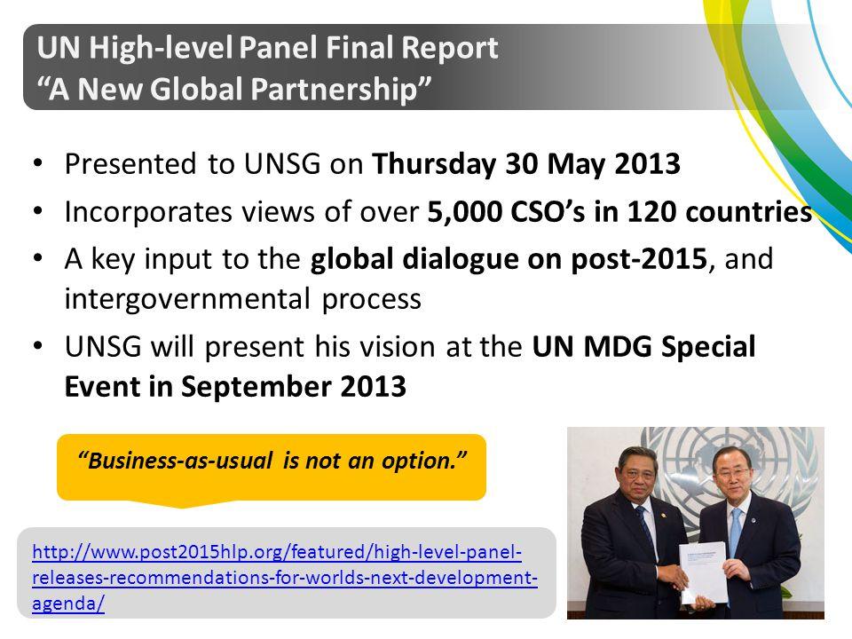 UN High-level Panel Final Report A New Global Partnership