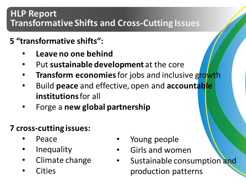 HLP Report Transformative Shifts and Cross-Cutting Issues