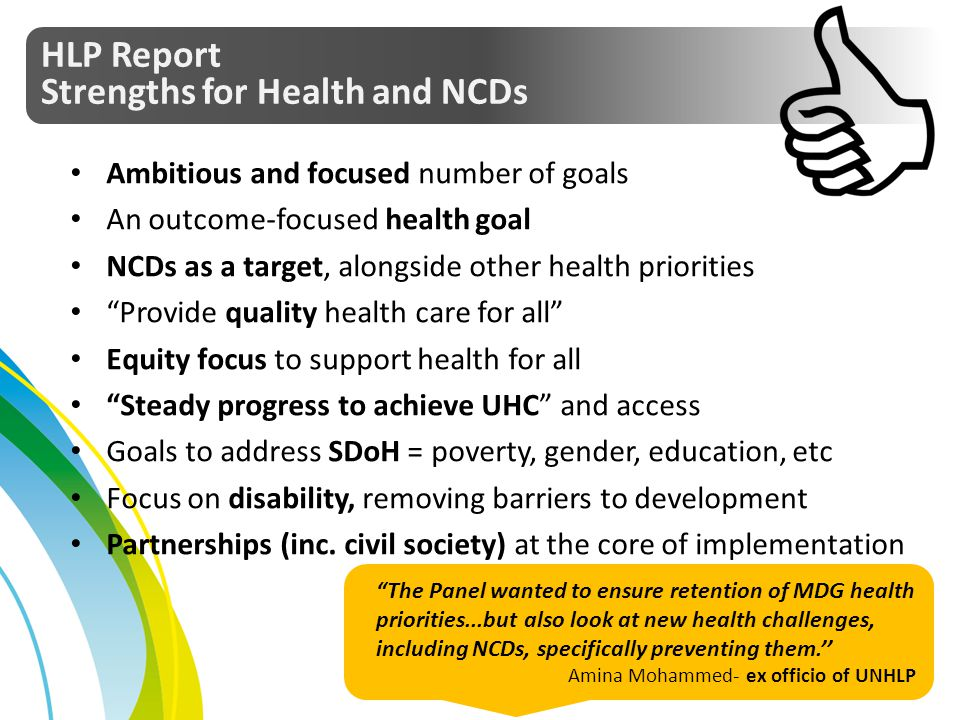 Strengths for Health and NCDs