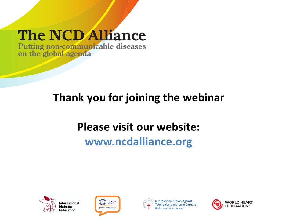 Thank you for joining the webinar Please visit our website: