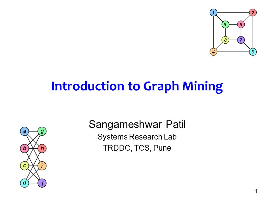 Introduction to Graph Mining