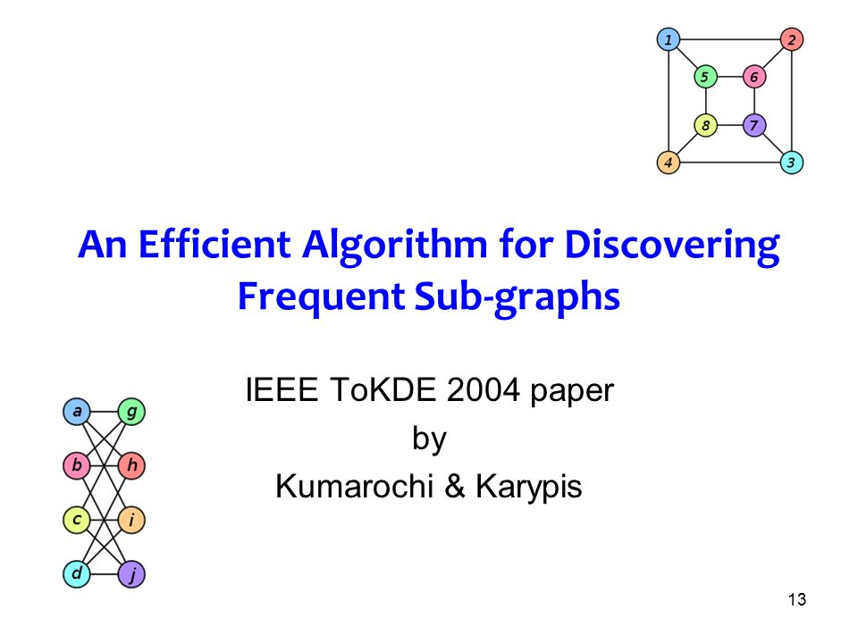 An Efficient Algorithm for Discovering Frequent Sub-graphs