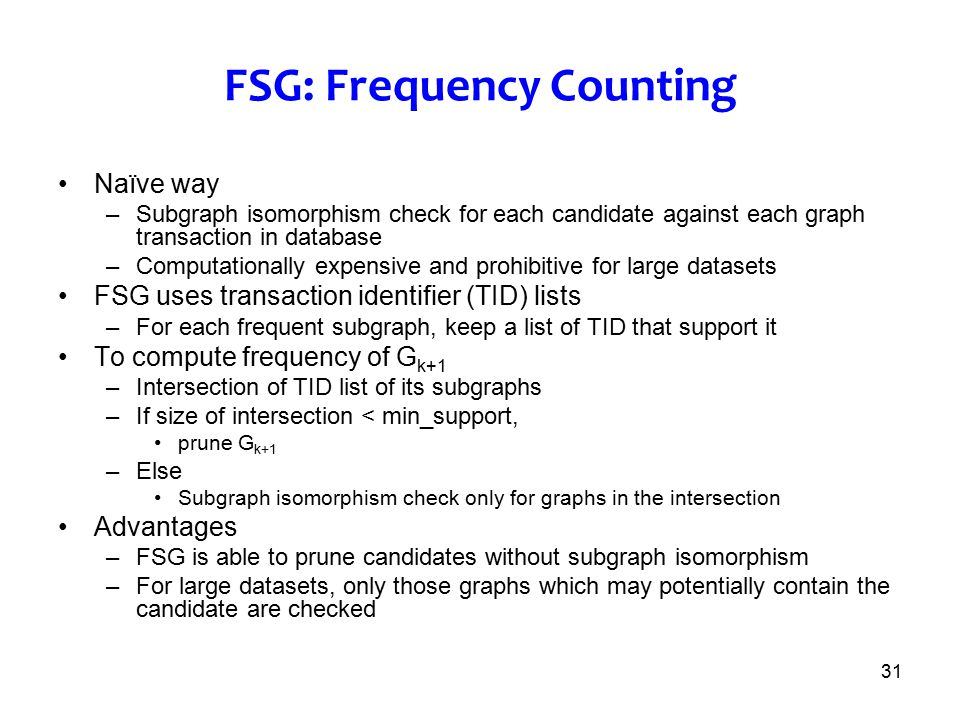 FSG: Frequency Counting