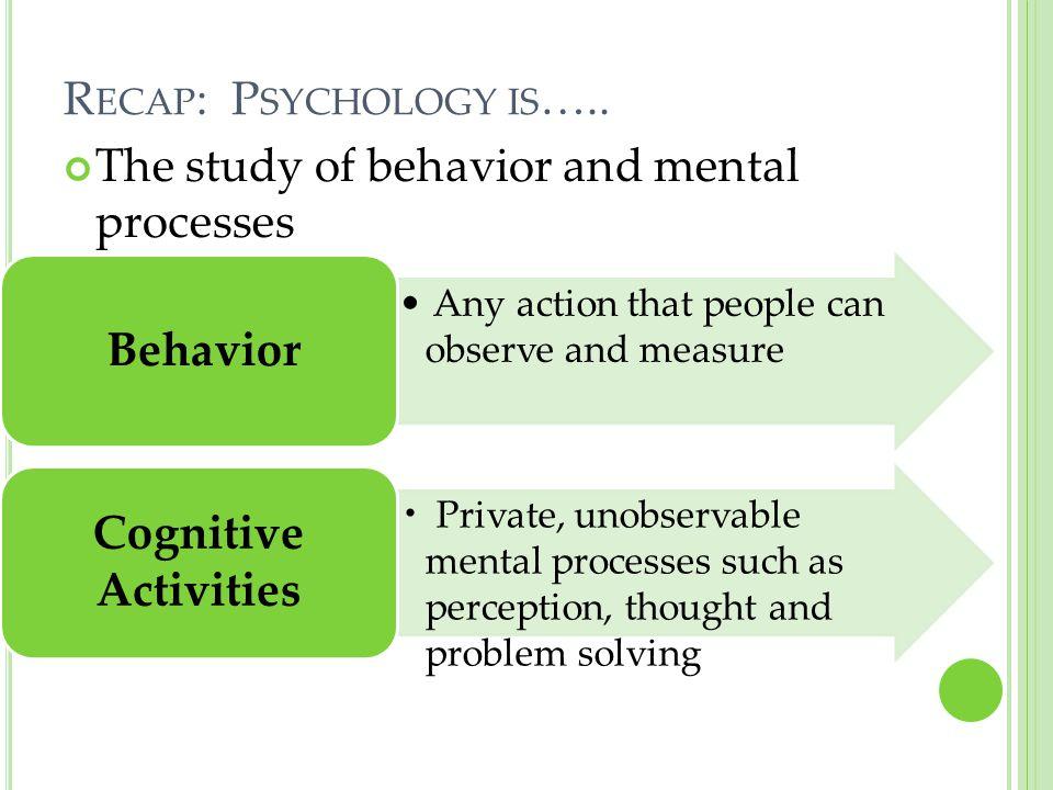 Behavior Cognitive Activities