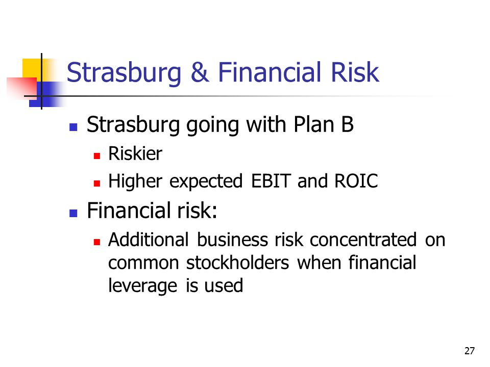 Strasburg & Financial Risk