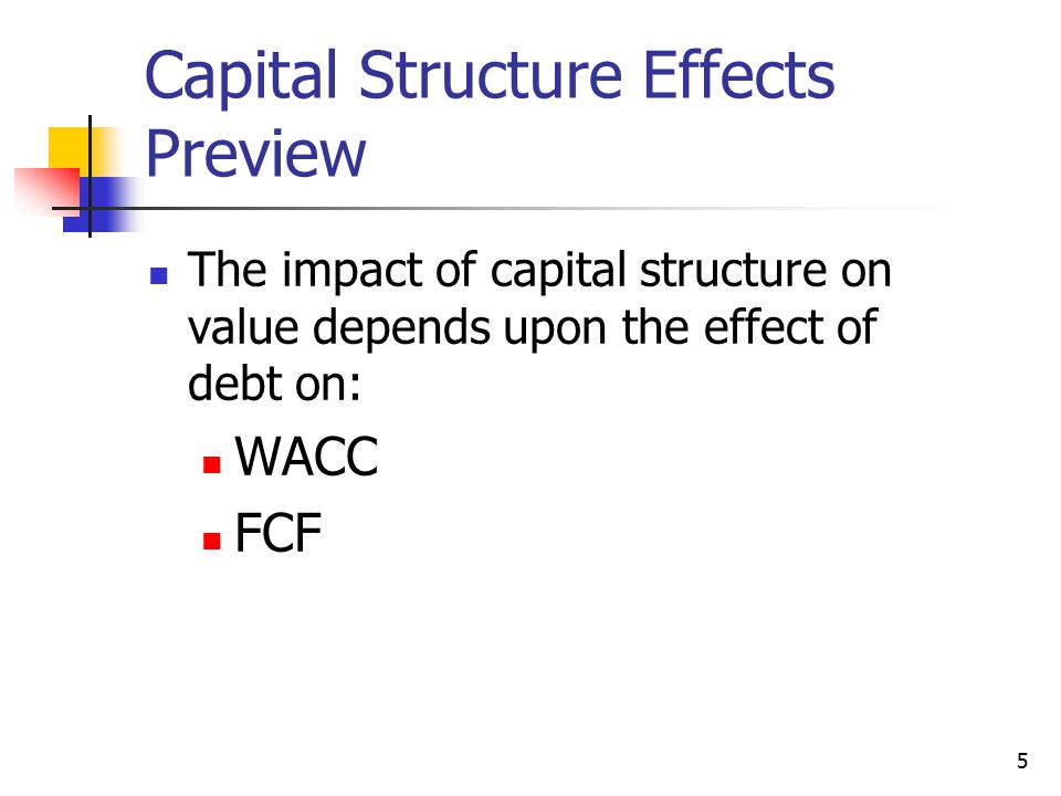 Capital Structure Effects Preview
