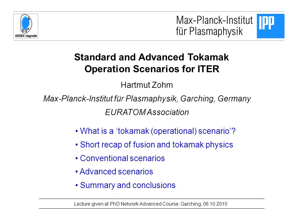 Standard and Advanced Tokamak Operation Scenarios for ITER