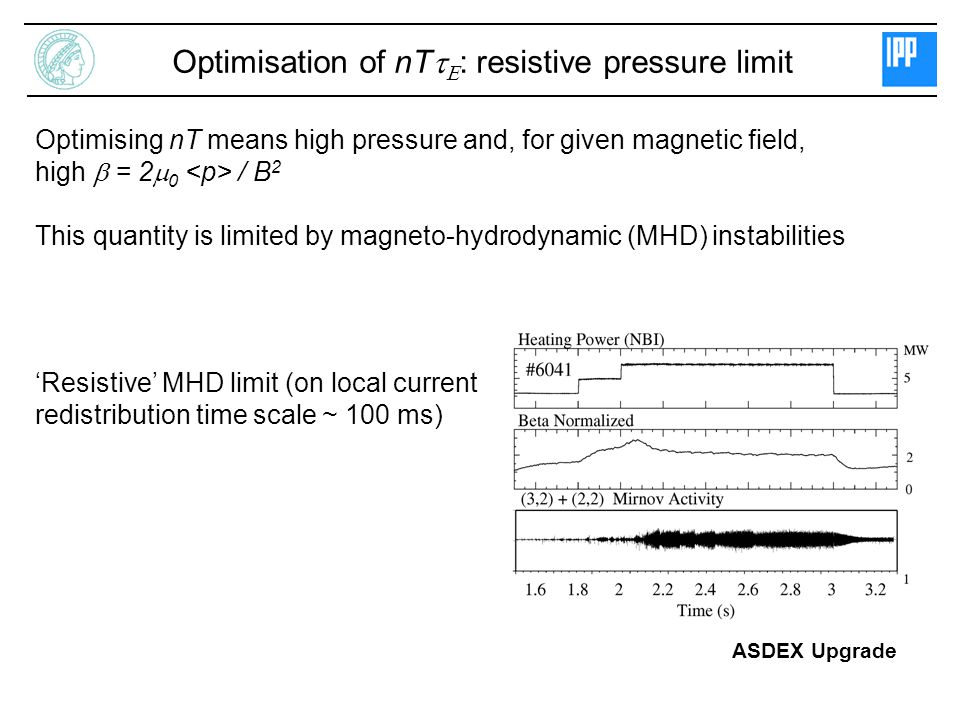 Optimisation of nTtE: resistive pressure limit