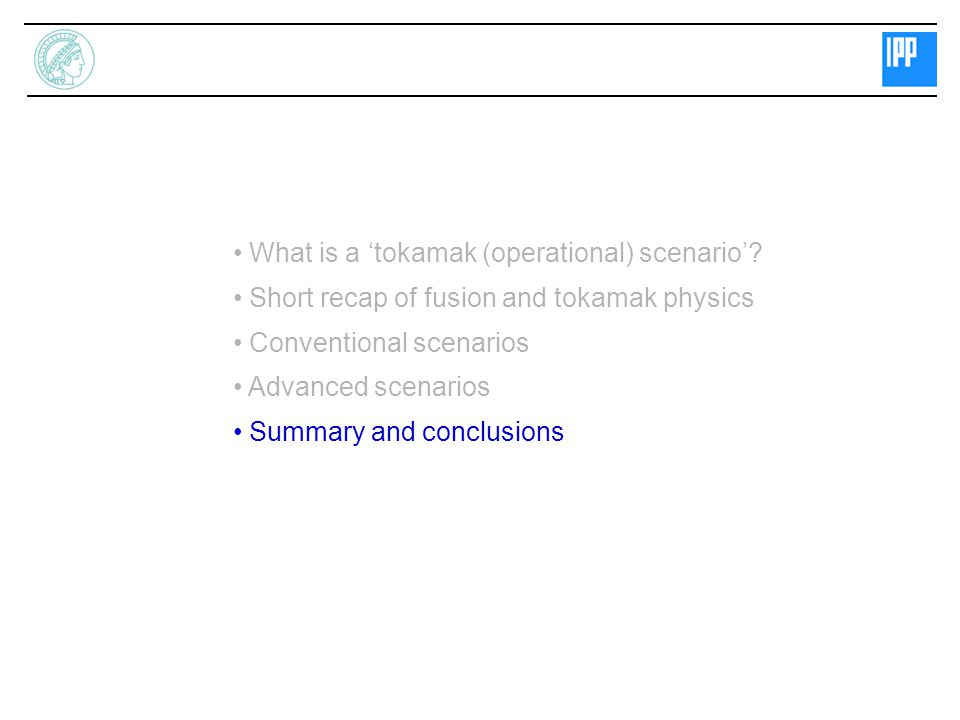 What is a 'tokamak (operational) scenario'