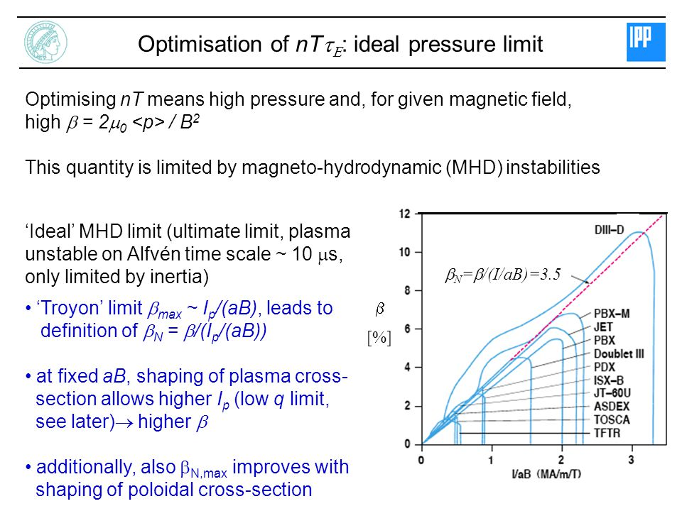 Optimisation of nTtE: ideal pressure limit