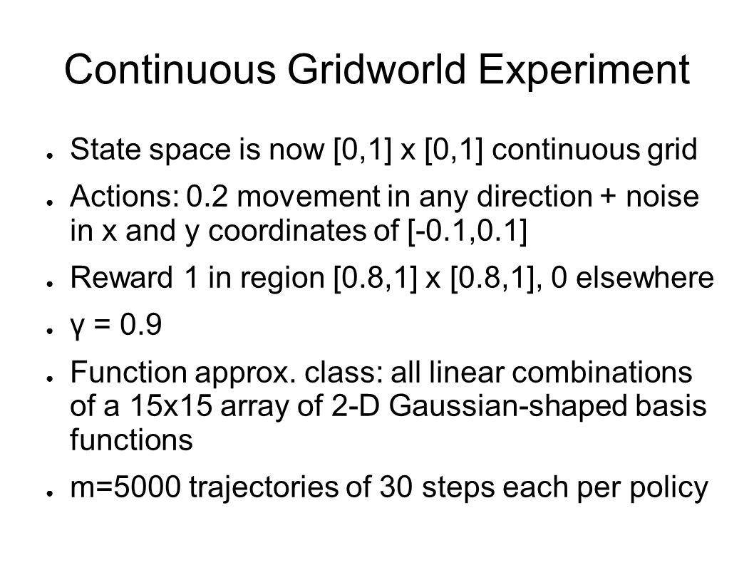 Continuous Gridworld Experiment