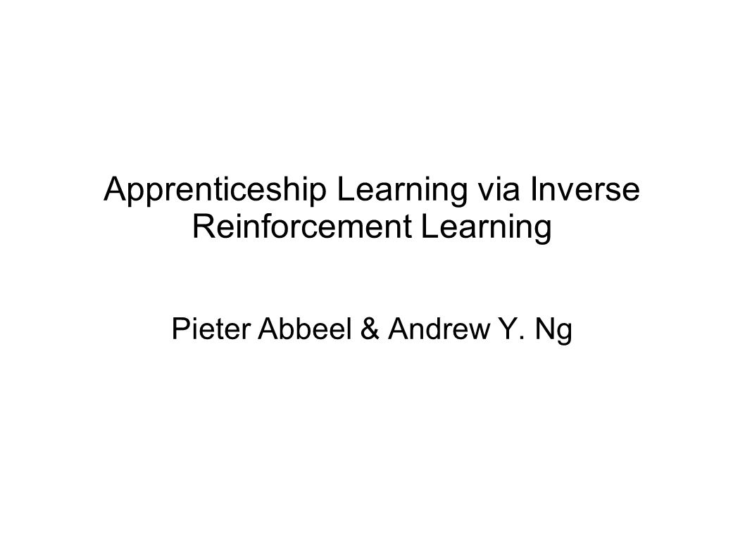 Apprenticeship Learning via Inverse Reinforcement Learning