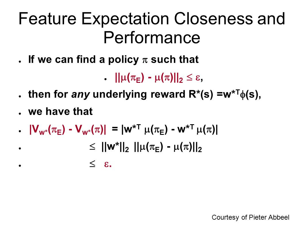 Feature Expectation Closeness and Performance