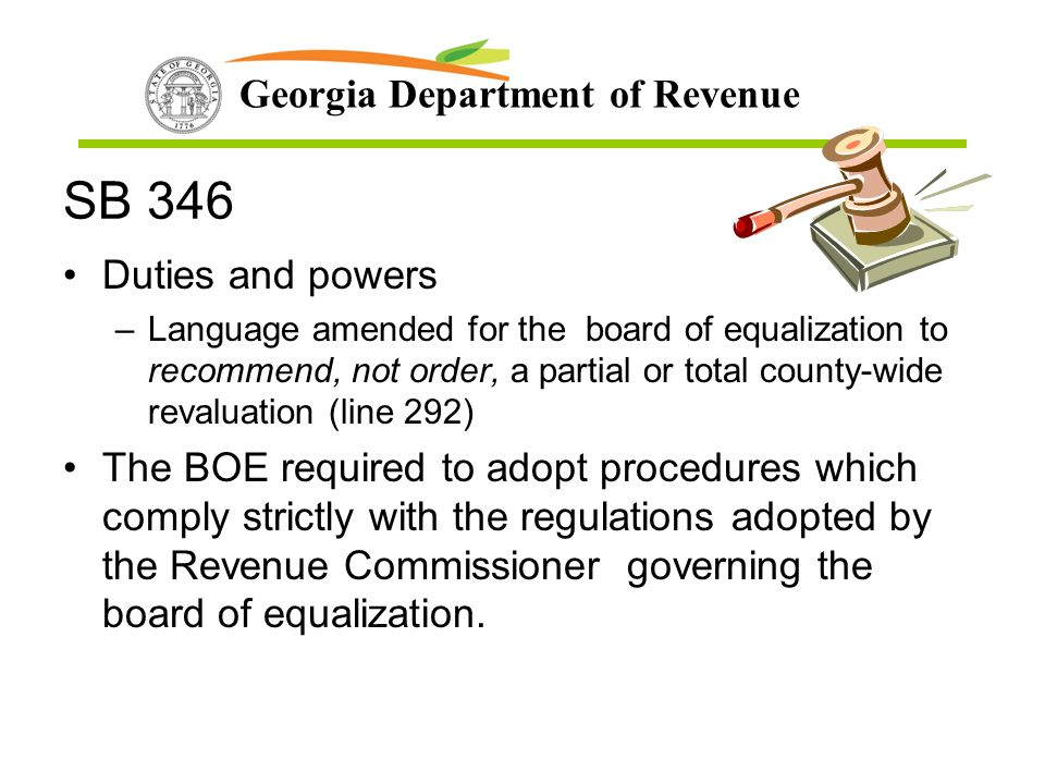 SB 346 Duties and powers.