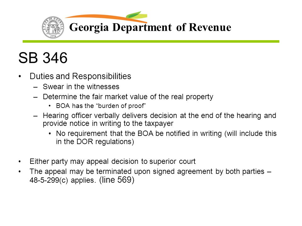 SB 346 Duties and Responsibilities Swear in the witnesses
