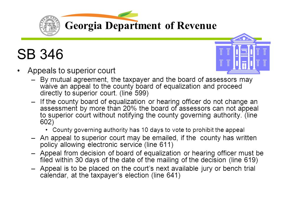 SB 346 Appeals to superior court