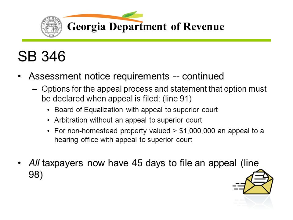 SB 346 Assessment notice requirements -- continued