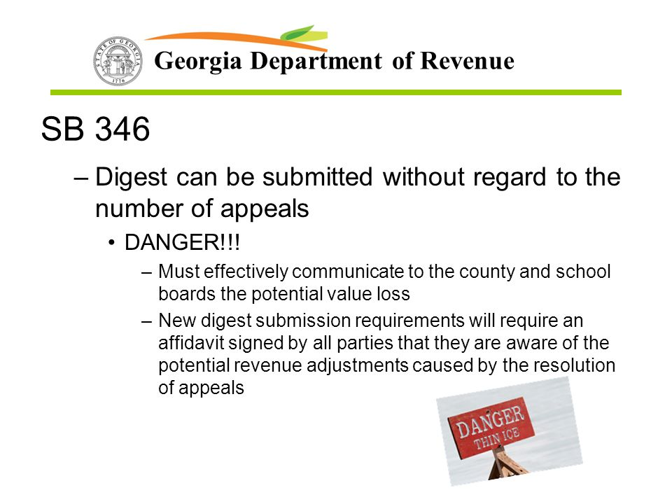 SB 346 Digest can be submitted without regard to the number of appeals