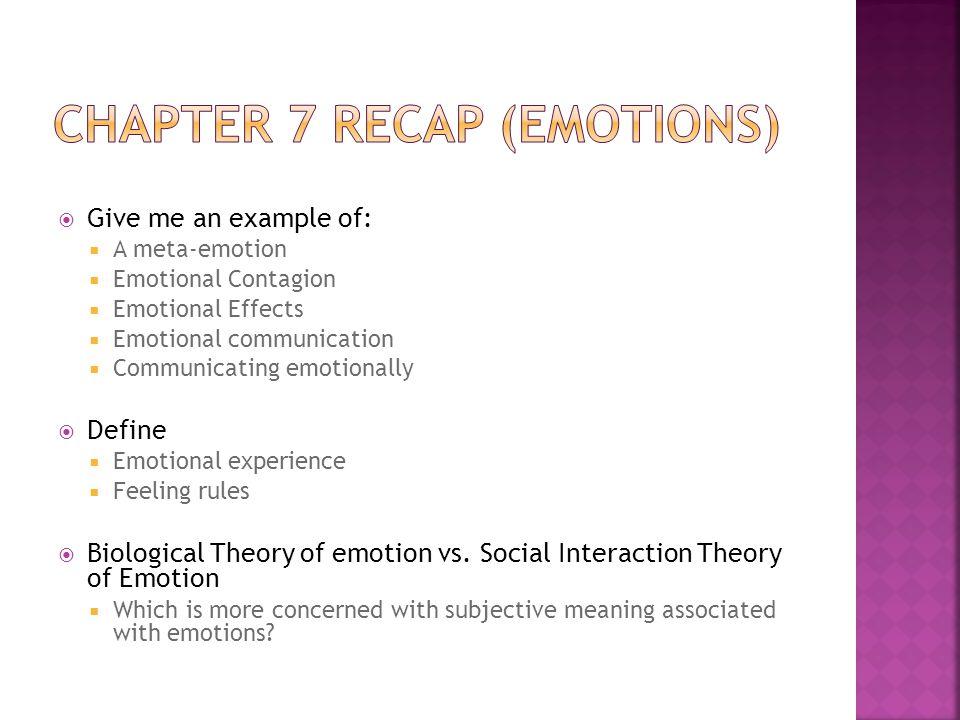 Chapter 7 Recap (Emotions)