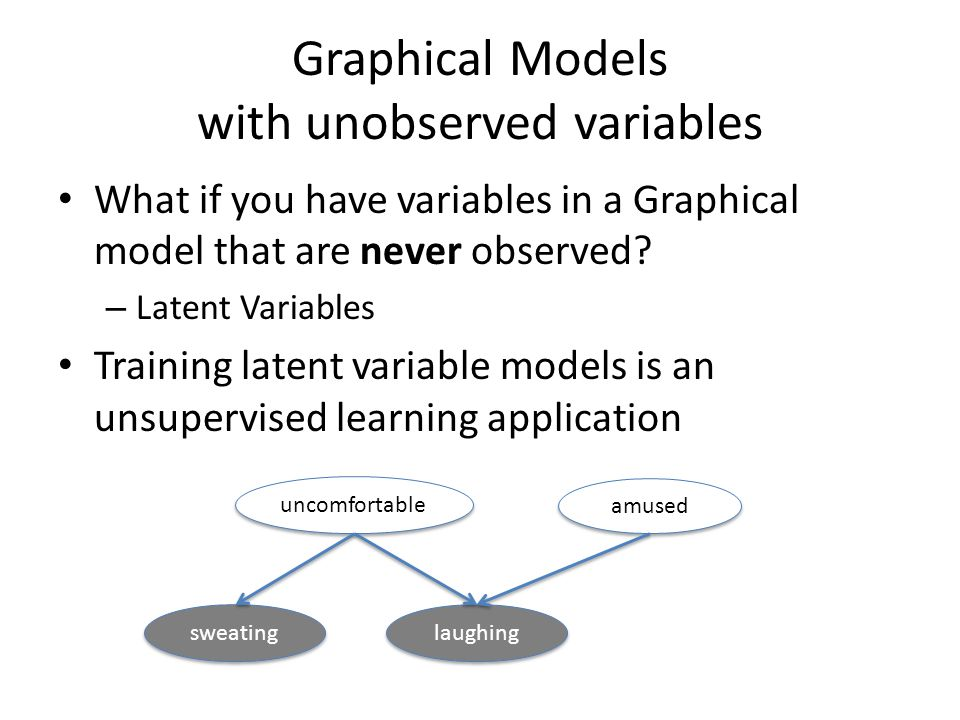 Graphical Models with unobserved variables