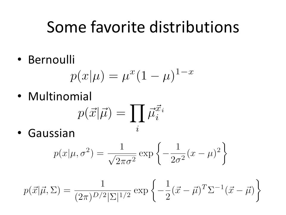 Some favorite distributions