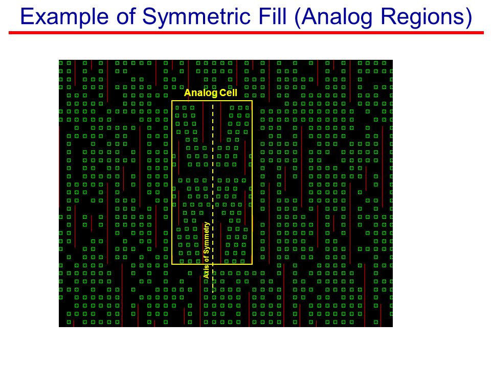 Example of Symmetric Fill (Analog Regions)