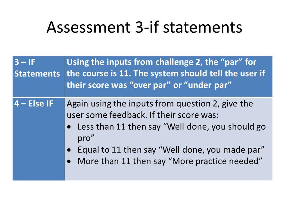 Assessment 3-if statements