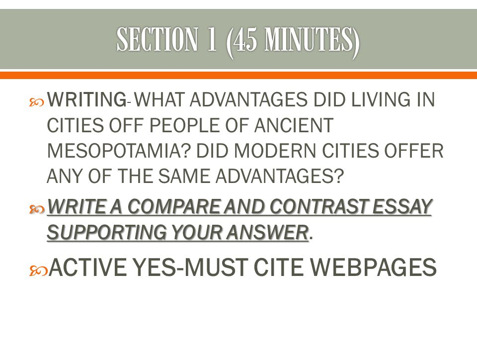 SECTION 1 (45 MINUTES) ACTIVE YES-MUST CITE WEBPAGES