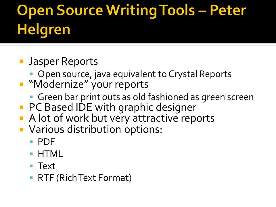 Open Source Writing Tools – Peter Helgren