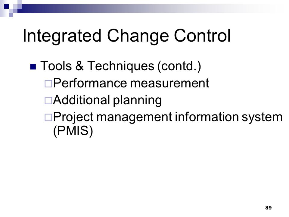 Integrated Change Control