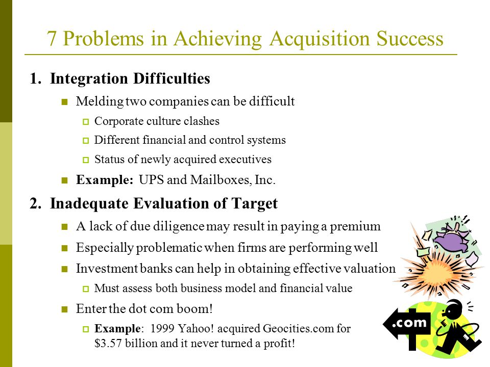 7 Problems in Achieving Acquisition Success