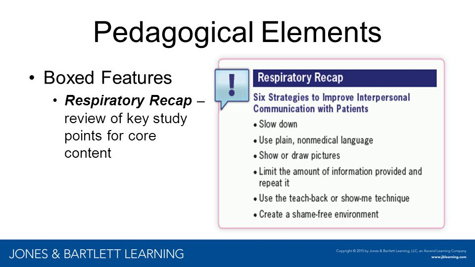 Pedagogical Elements Boxed Features
