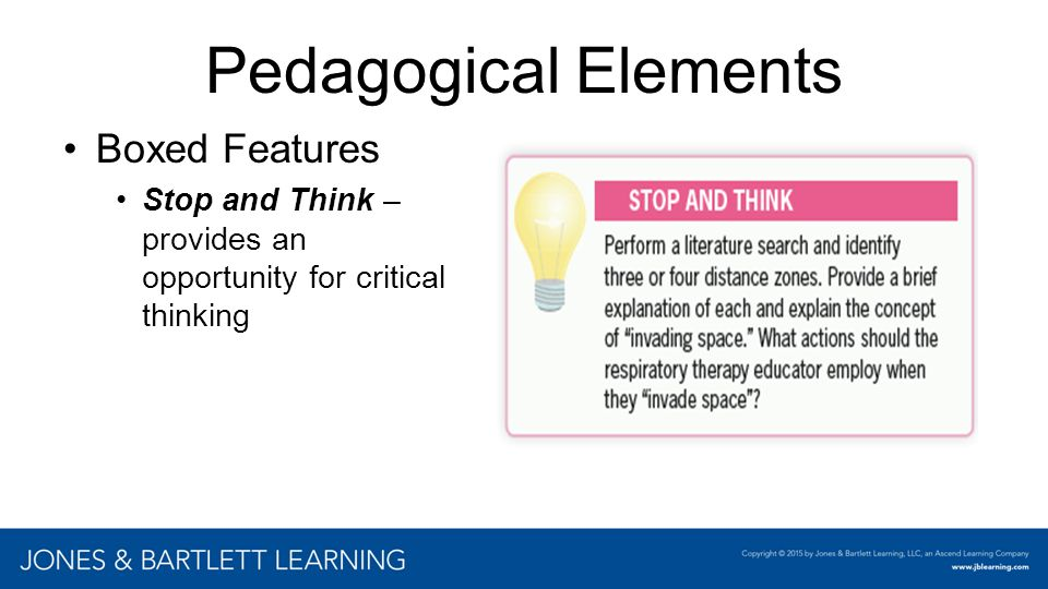 Pedagogical Elements Boxed Features Insert chapter examples here