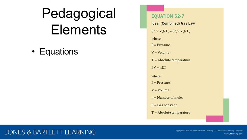 Pedagogical Elements Equations