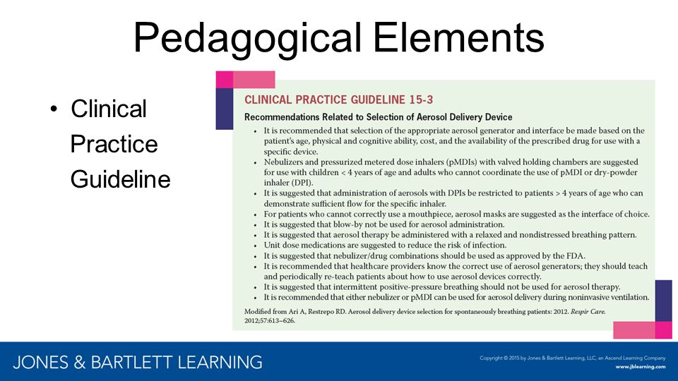 Pedagogical Elements Clinical Practice Guideline