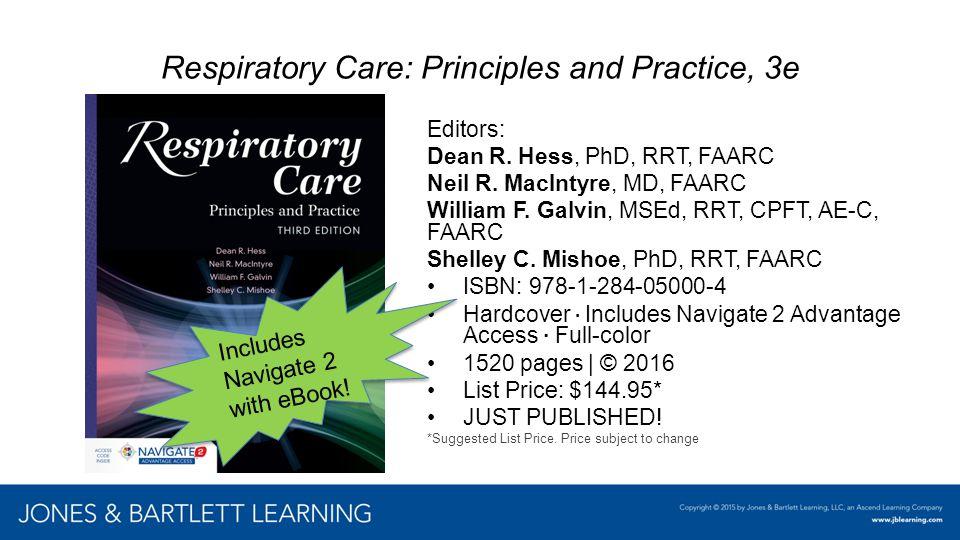 Respiratory Care: Principles and Practice, 3e