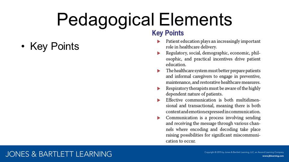 Pedagogical Elements Key Points