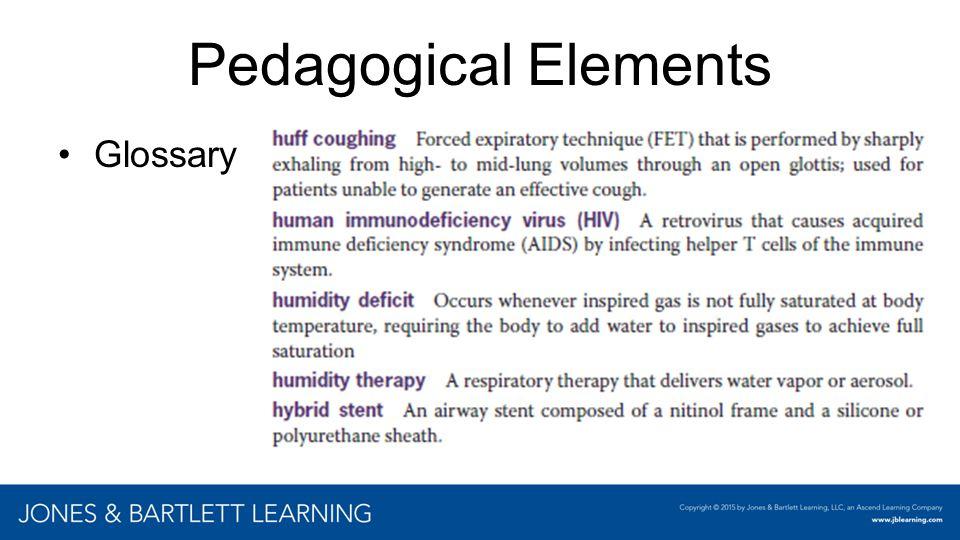 Pedagogical Elements Glossary