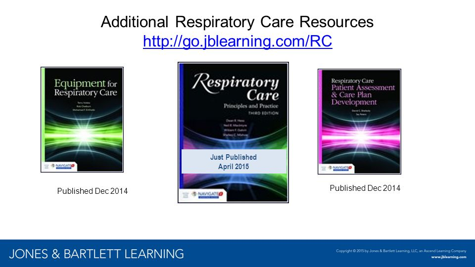 Additional Respiratory Care Resources http://go.jblearning.com/RC