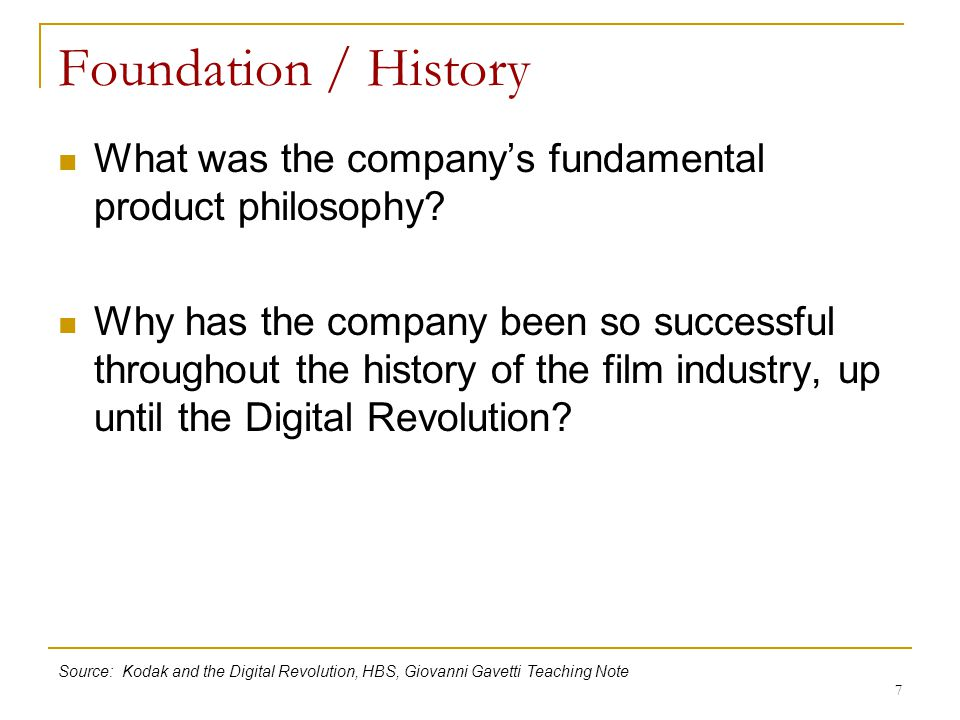 Foundation / History What was the company's fundamental product philosophy