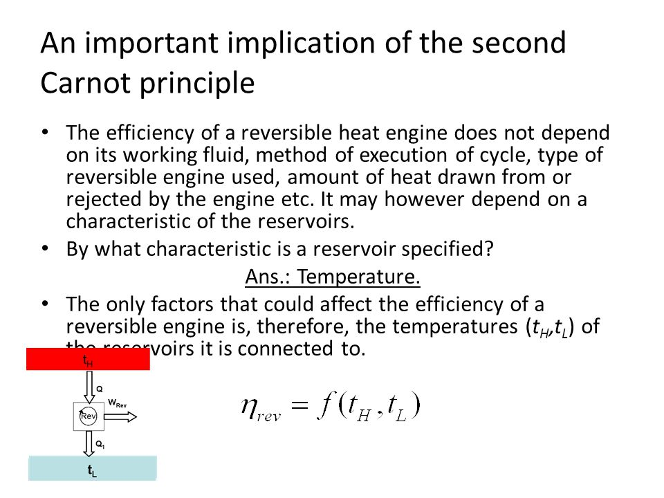 An important implication of the second Carnot principle