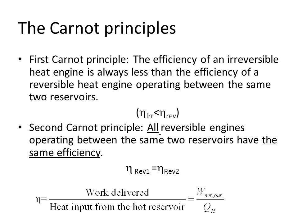 The Carnot principles