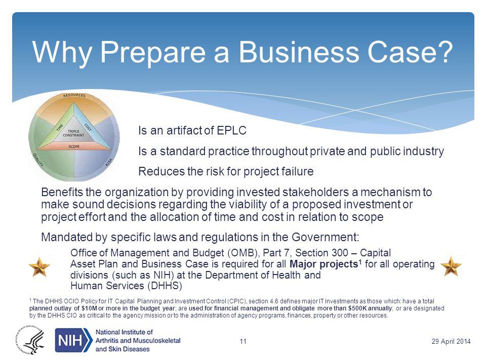 Why Prepare a Business Case